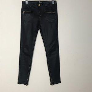 Zara- Slim Fit Black Pants with zip up legs size 2